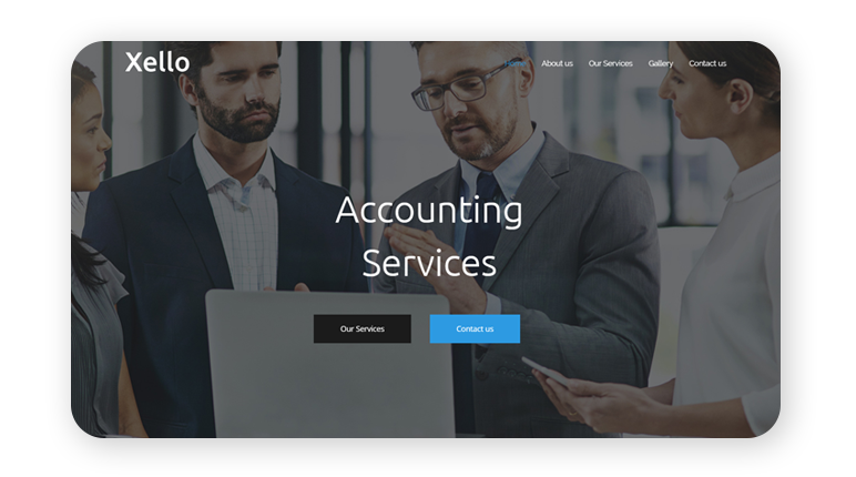 Accounting Website Design by Webbuddy